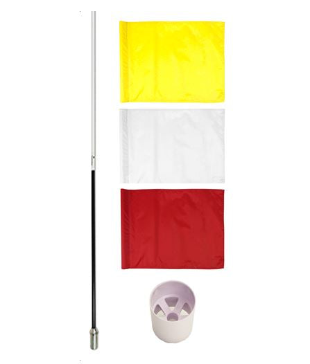 Traditional Pole, Flag & Cup Set
