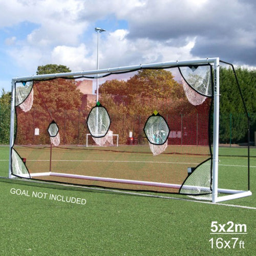 Quickplay Folding 5m Match Goal & Target Net Combo Set