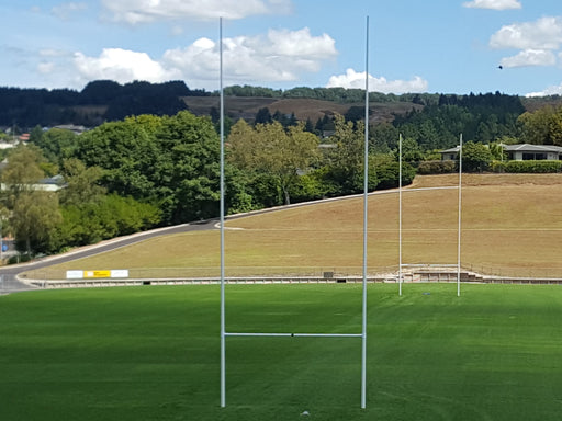 16m Rugby Post installed at Rotorua International Stadium
