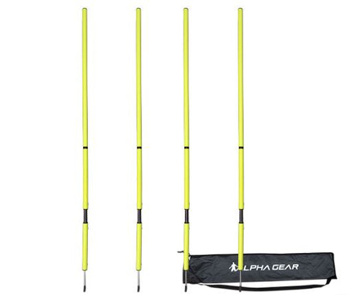 Agility Poles - yellow with springs