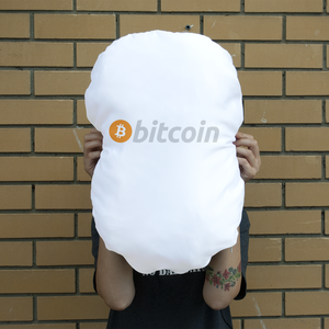 Bitcoin Giant Face Cushion