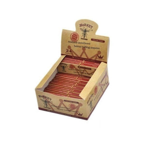 24 Hornet Brown Organic King Size Rolling Papers + Tips