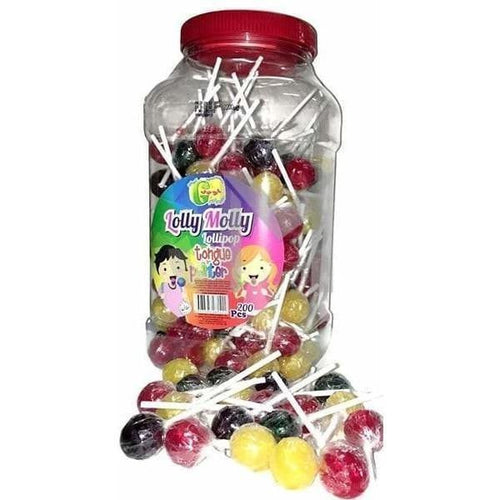 Lolly Molly Assorted Tongue Painter Lollipops (Halal and Vegetarian)