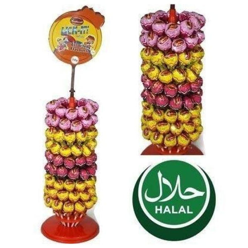 Sweetworld Lick-It Assorted Fruit Flavour Lollies (Halal)