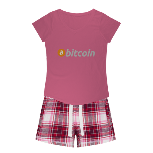 Bitcoin Girls Sleepy Tee and Flannel Short