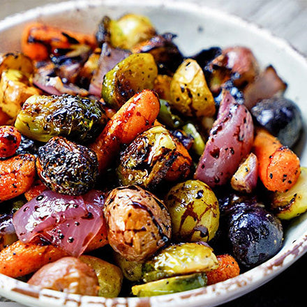 Roasted Vegetables with Honey Balsamic Vinegar