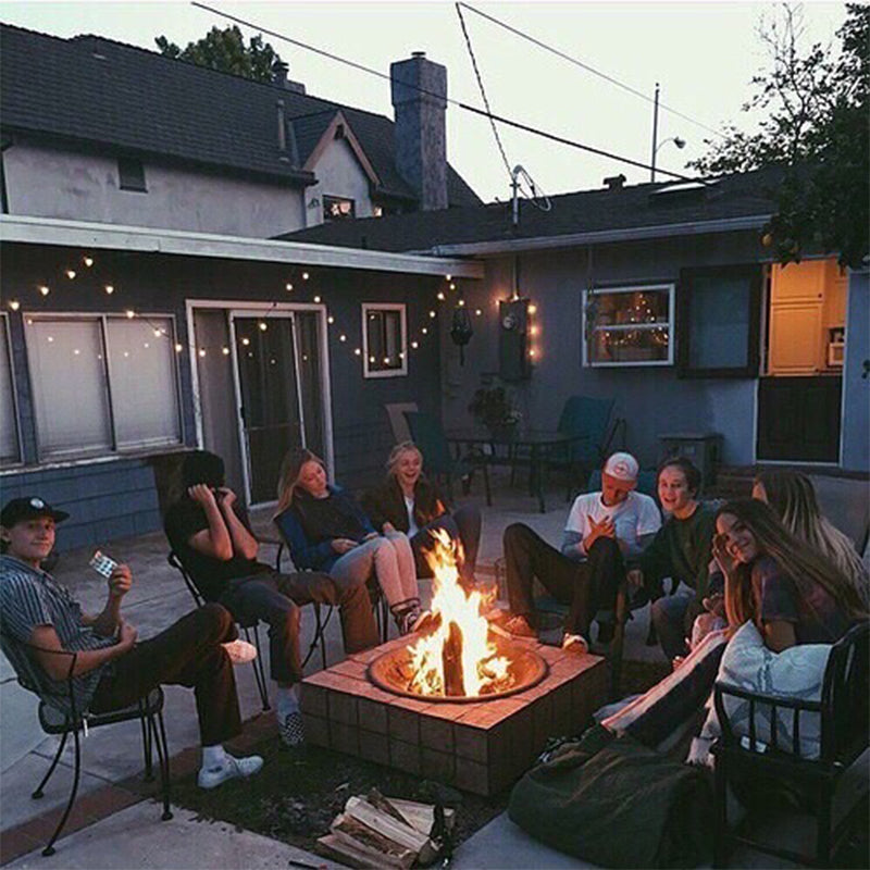 LA campfire with friends