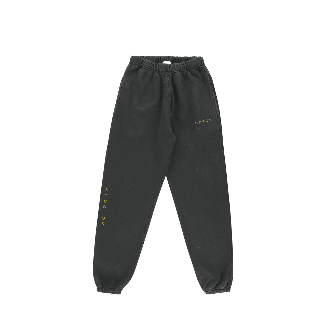 .STUDIO SWEATPANTS - GRAPHITE & YELLOW