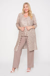R&M Richards Plus Size Mother of the Bride Pant Suit Duster Jacket - The Dress Outlet R&M Richards