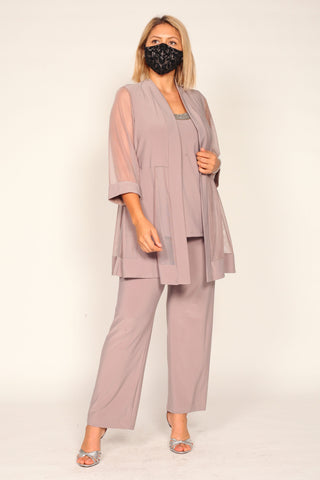 R&M Richards Plus Size Formal Pants Suit 8764W