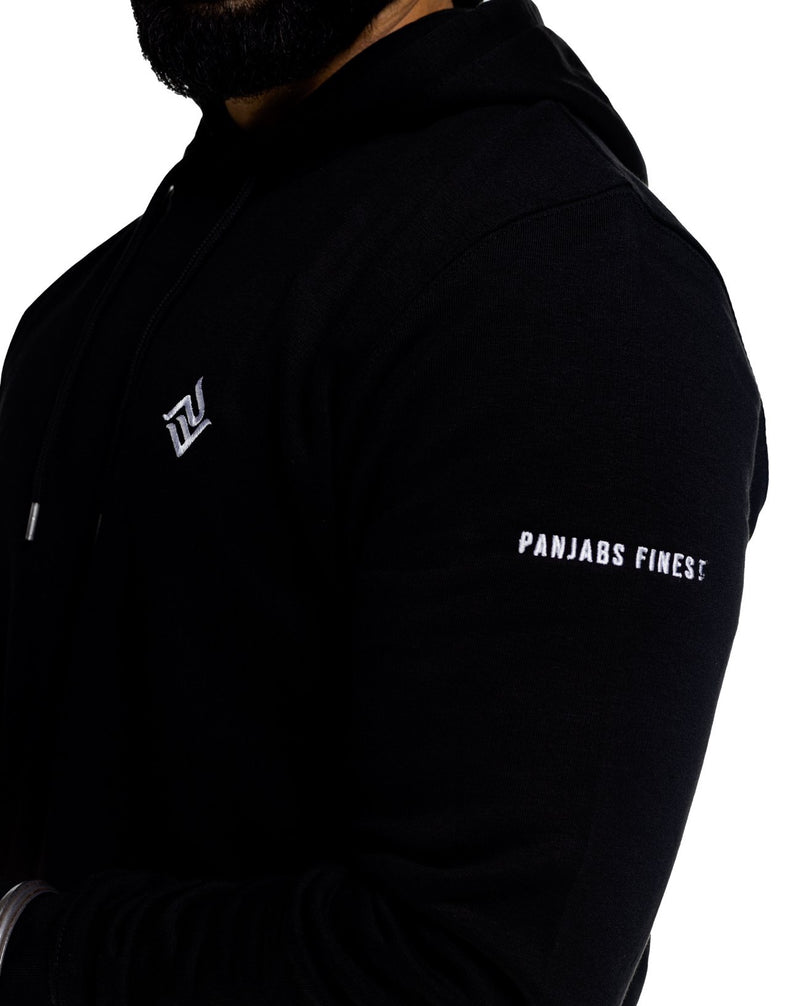 Lux PF Hoody Black | Punjabi Apparel | Panjabs Finest