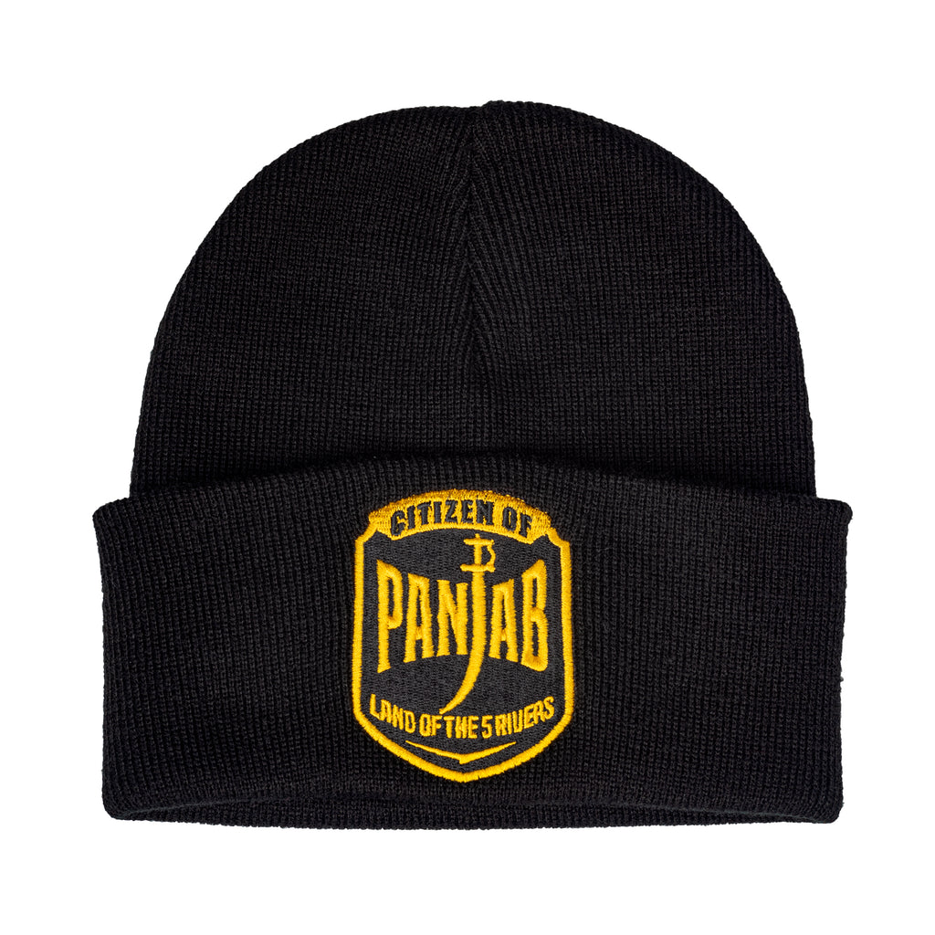 Citizen of Panjab Beanie Black | Punjabi Apparel | Panjabs Finest