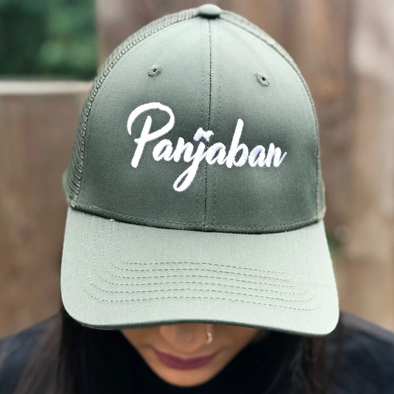 Panjab Cap Black & Fire Red