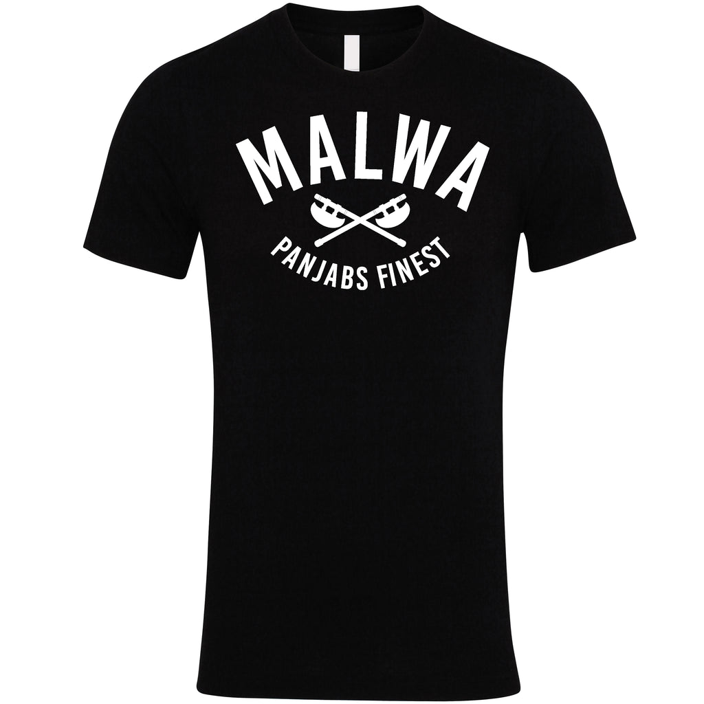 Malwa T-Shirt Black | Panjabi Fashion | Panjabs Finest
