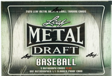 2020 Leaf METAL DRAFT JUMBO Full CASE 6-Box-Pick Your Team!! Free Shipping! (60 Auto's with (6) 1/1's) + Bonus!!