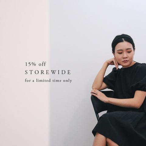 15% off storewide, for a limited time only