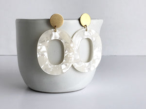 coco earrings - frost