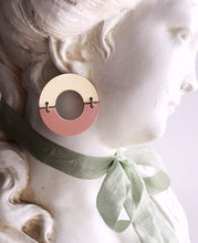 split ring earrings - blush