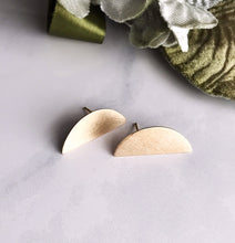 eclipse earrings - brushed brass