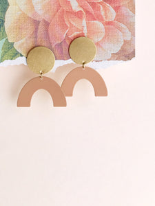moon rising earrings - desert peach