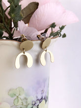 mini arch earrings - brushed brass
