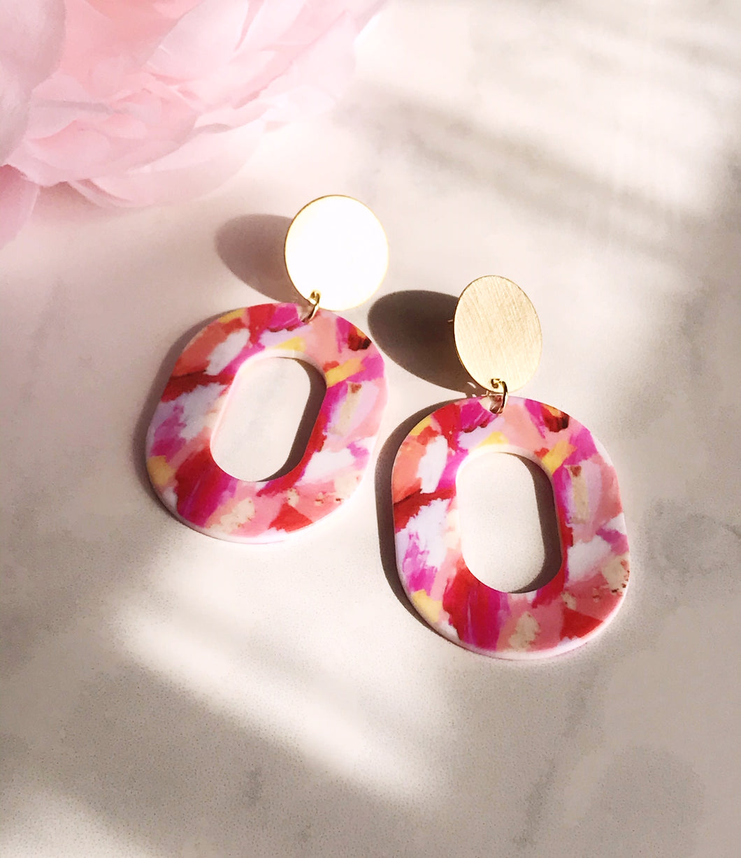 coco earrings - brush stroke