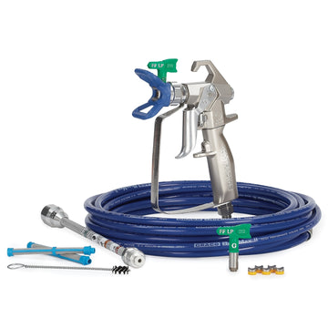 Graco Contractor Airless Spray Gun, RAC X FFLP, BlueMax II Airless Hose, 3/16 in x 25 ft, 2 - 100 Mesh Filter 10 in Extension