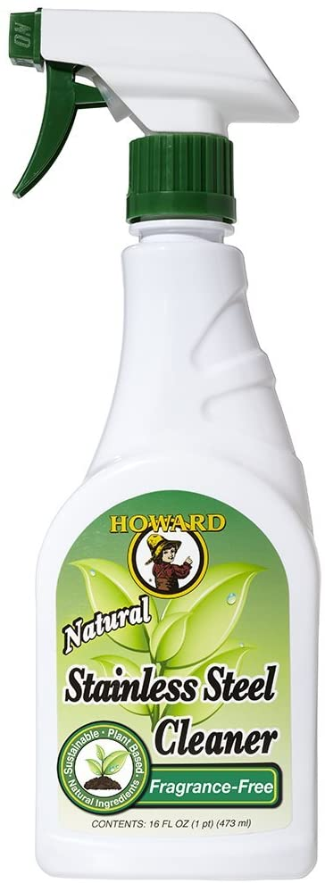 Howard SS5012 Natural Stainless Steel Cleaner, 16-Ounce, Lemongrass-Lime