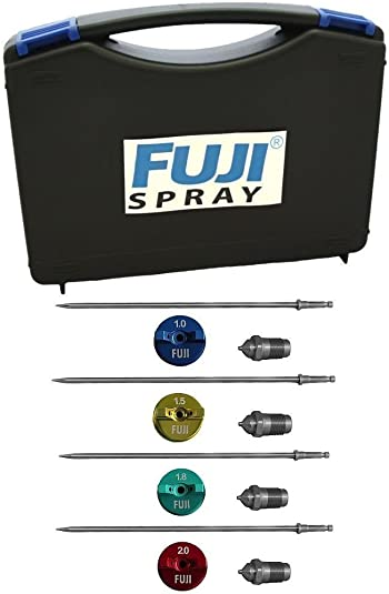 Fuji Air Cap Set 5100-2,4,5 and 6 for T-Series Spray Gun with 5137 Carrying Case Bundle (5 Items)