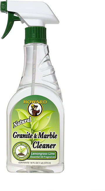 Howard GM5012 Natural Granite and Marble Cleaner, 16-Ounce, Lemongrass-Lime