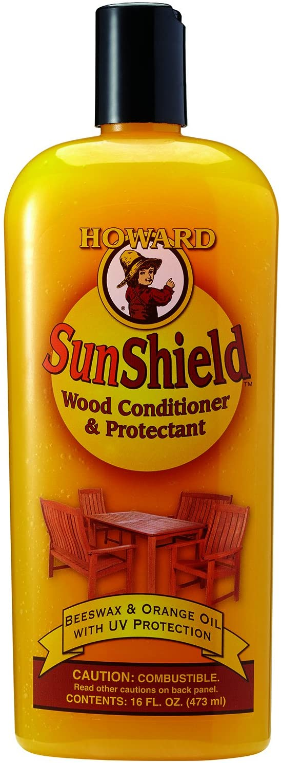Howard SWAX16 SunShield Outdoor Furniture Wax with UV Protection, 16-Ounce