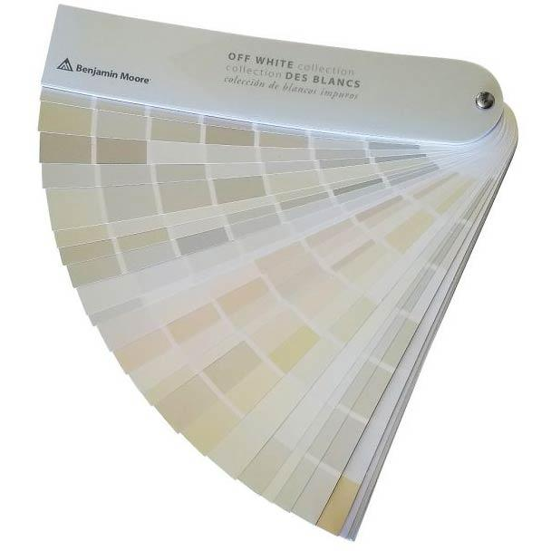 Benjamin Moore Off White Collection Fan deck