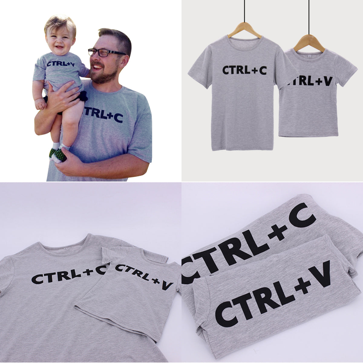 1e9eef05 ... Father And Son Clothes Fashion Style Cute Family T Shirt Family Matching  Outfits ...
