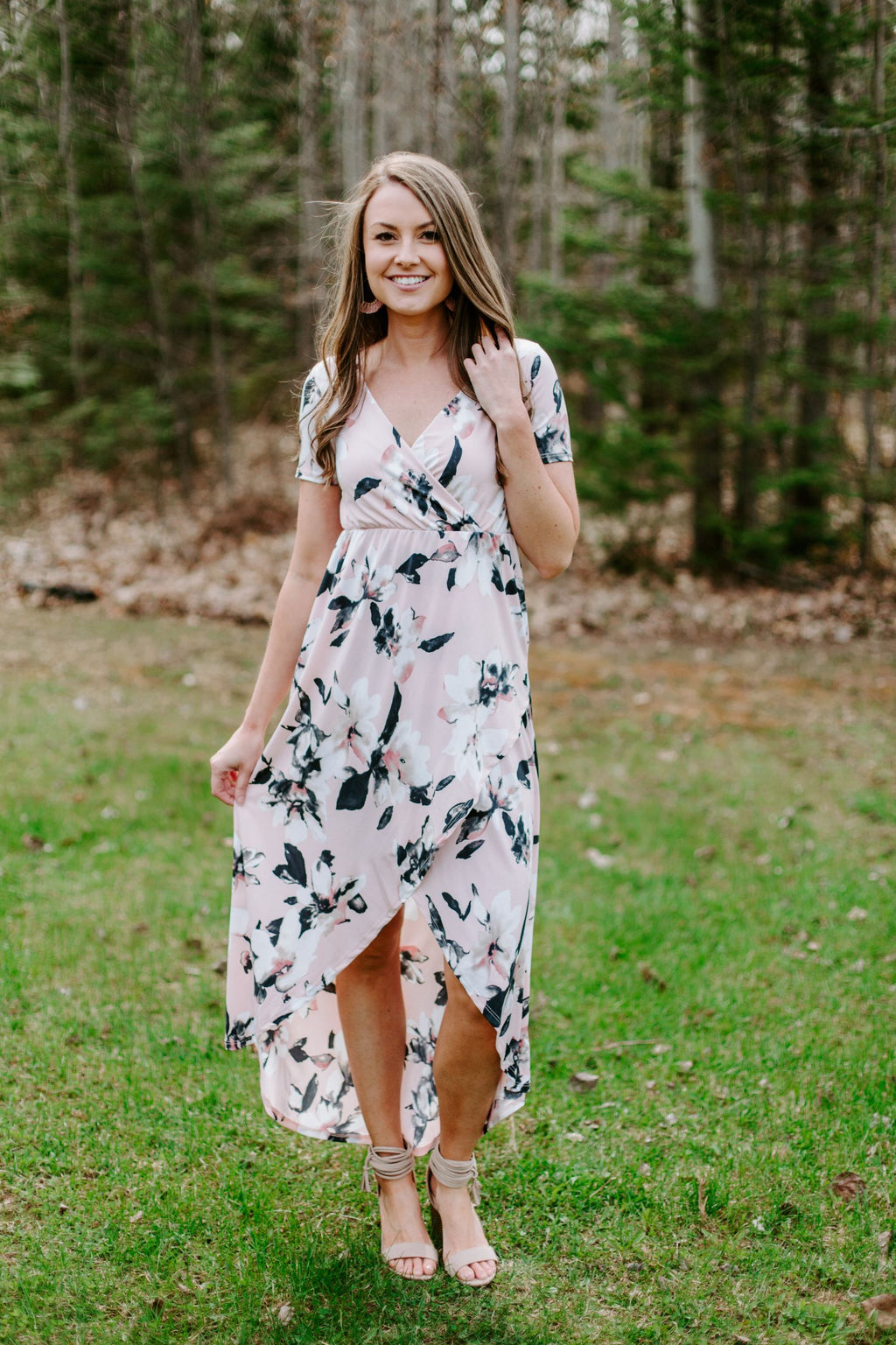 Jessa Hi Lo Floral Dress
