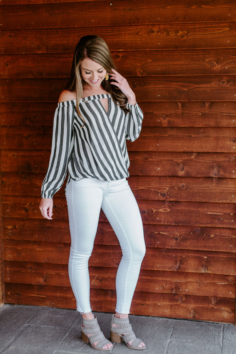 The Molly Striped Blouse