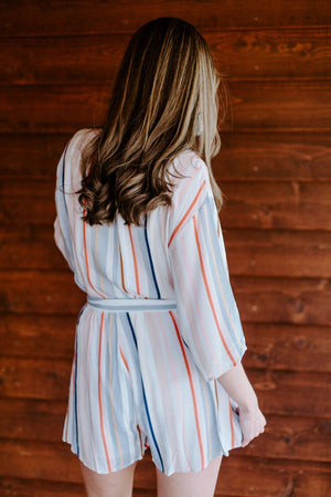 Santorini Striped Romper