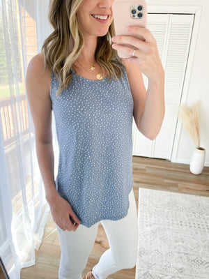 The Denim Dottie Tank
