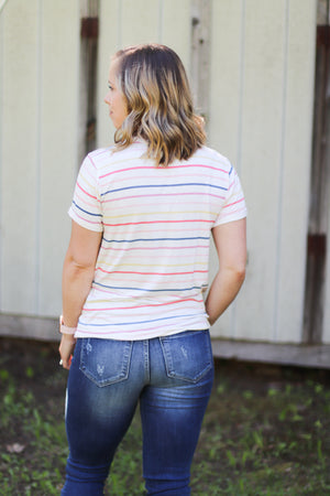 The Catie Striped Tee / Deal of the Week / Final Sale