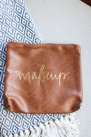 Faux Leather Make Up Bag