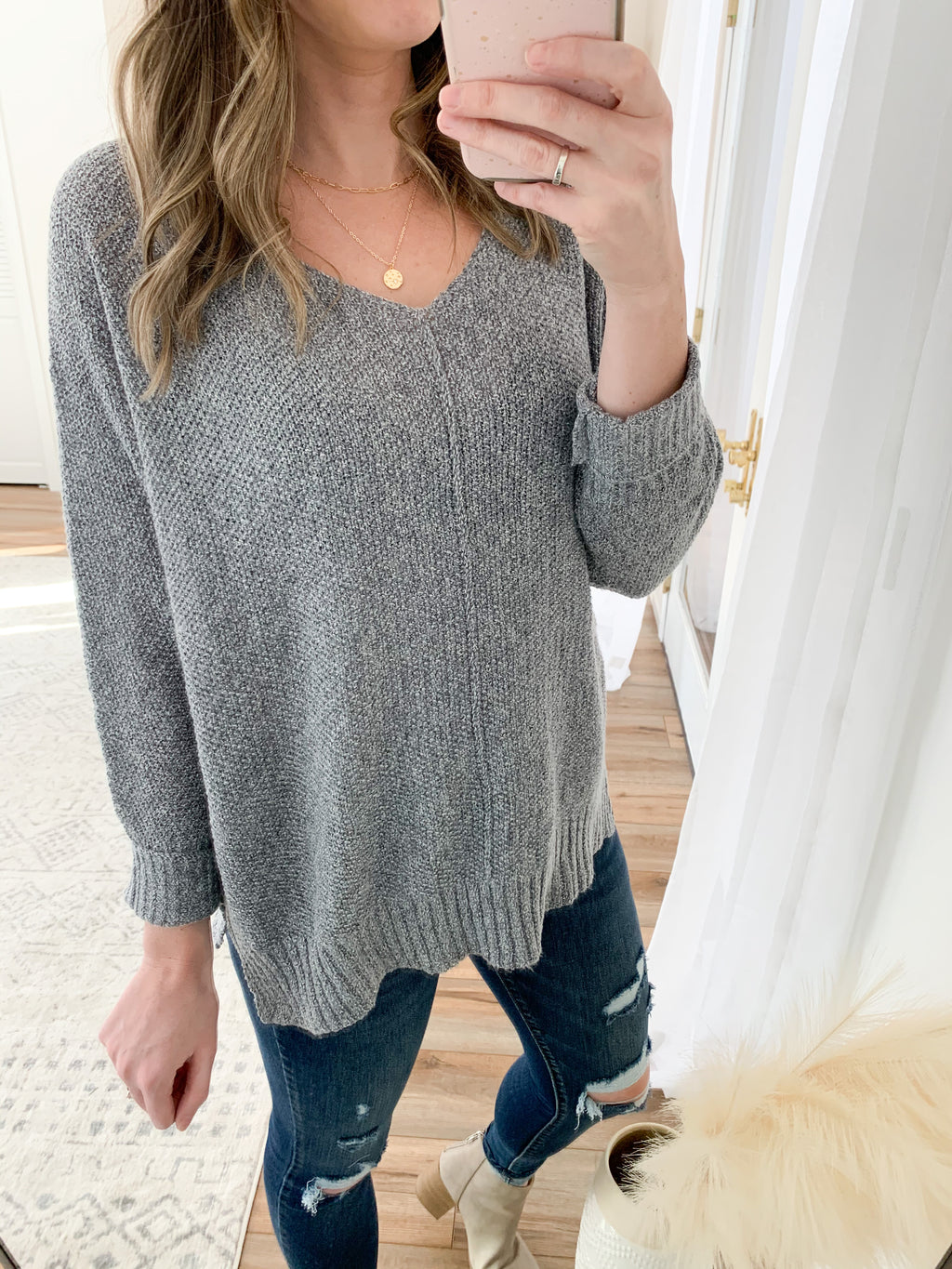 The Camilla Sweater in Grey