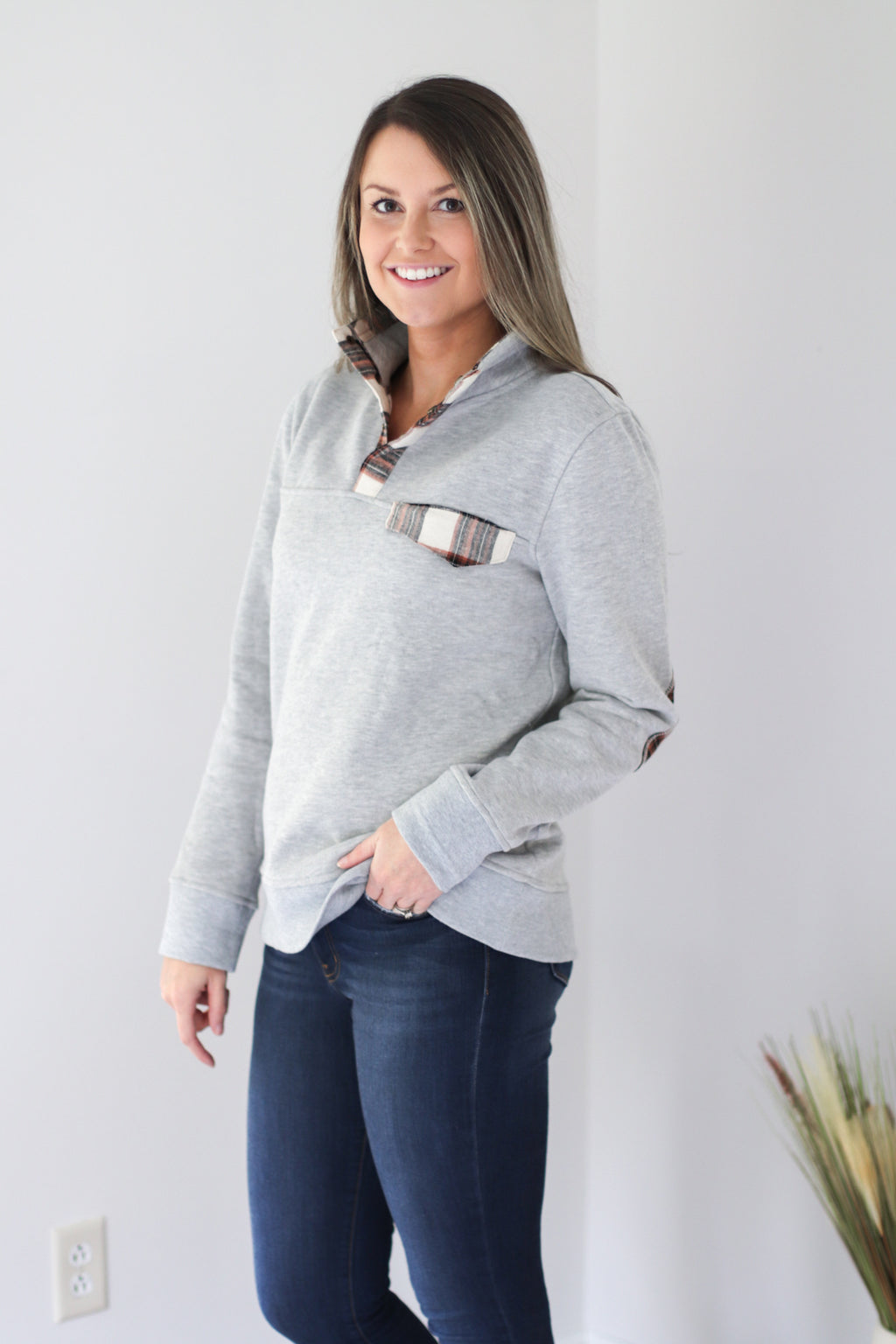 The Northern Pullover in Gray