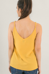 Scallop Neck Tank in Yellow