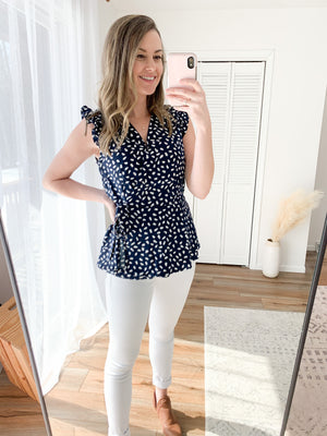 The Andie Peplum Blouse