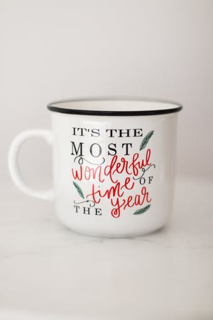 Most Wonderful Time Ceramic Campfire Mug