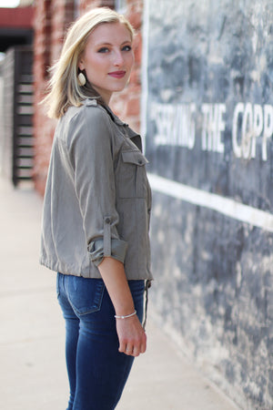 The Rylie Jacket in Vintage Olive