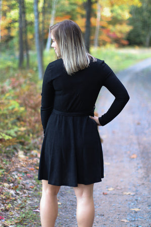 The Lauryn Ribbed Sweater Dress