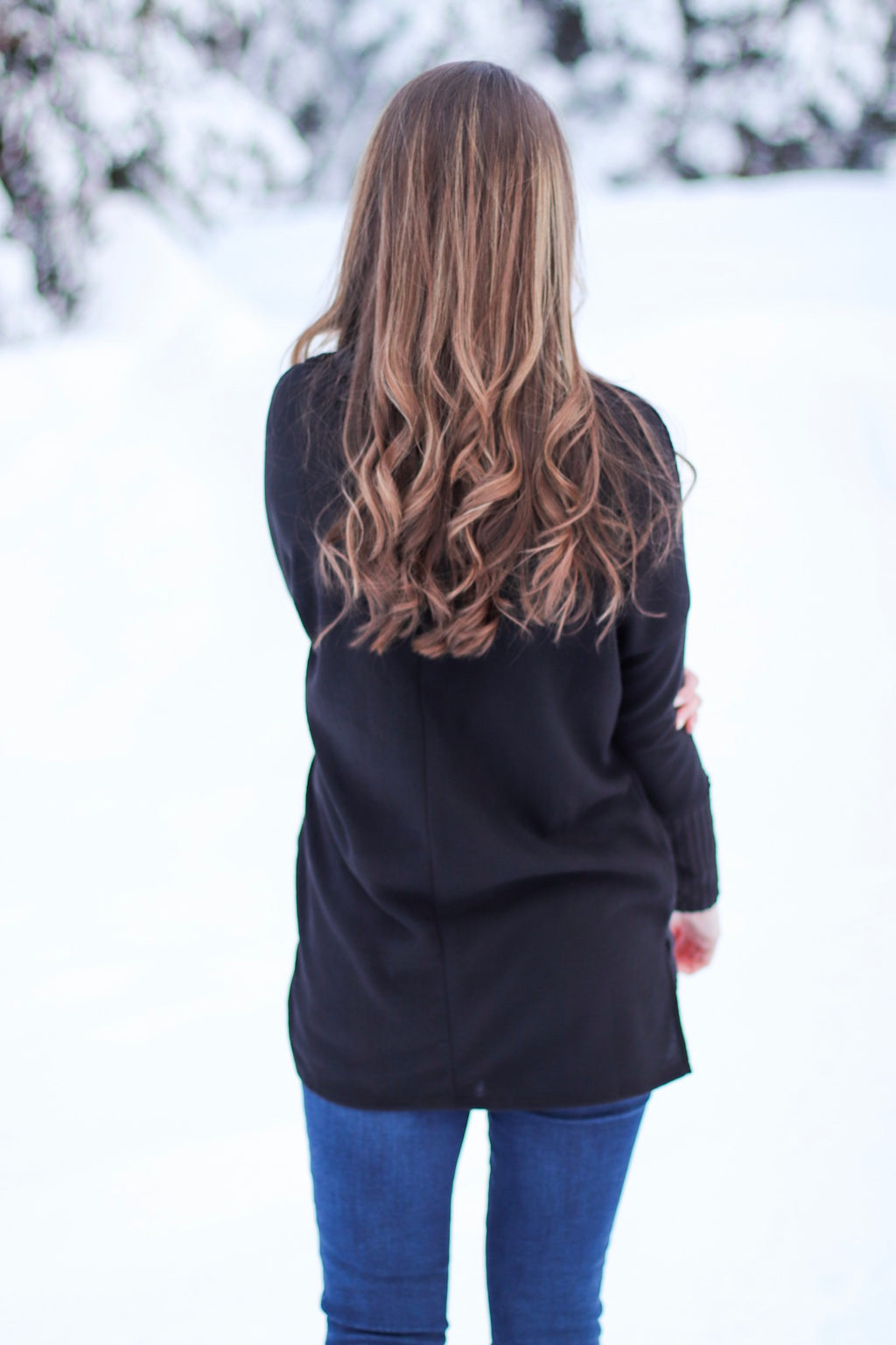 The Ashley Cowl Neck in Black