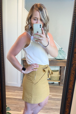 The Sasha Mini Skirt in Mustard