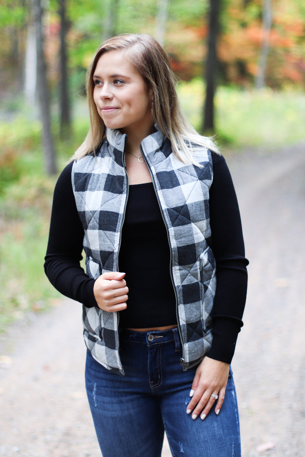Buffalo Plaid Flannel Vest