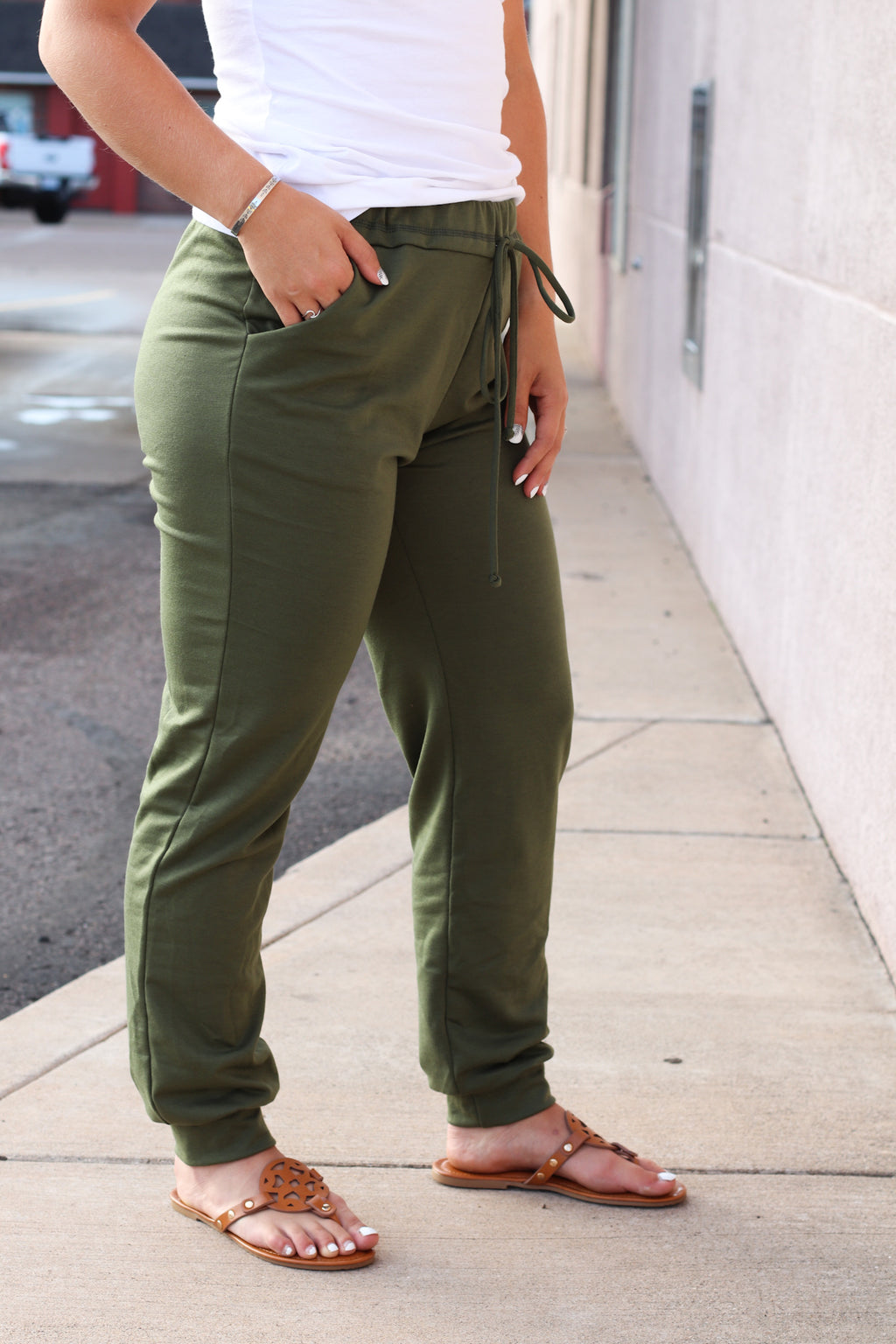 The Macy Olive Joggers